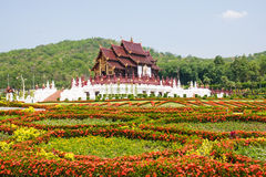 Thai architectural building style Royalty Free Stock Images