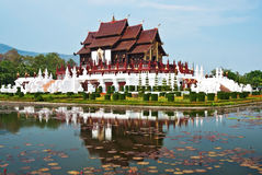 Thai architectural style Royalty Free Stock Photo