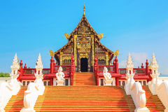 Thai architectural style. This is the art of Thailand. Located a Stock Images