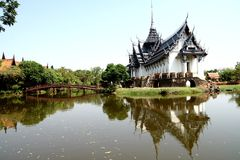 Thai architecture. In Bangkok park stock photos