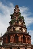 Thai architecture buddhism stone tower royalty free stock photo
