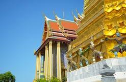 Thai Architecture, Demon Guardian at Wat Phra Kaew, Grand Palace, Bangkok, Thailand Stock Image
