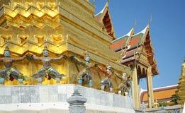 Thai Architecture, Dmon Guardians at Wat Phra Kaew, Grand Palace, Bangkok, Thailand Stock Photos