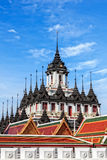 Thai Architecture, The Metallic Temple Royalty Free Stock Images