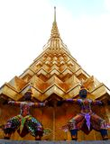 In thai architecture style / wat prakaew 02 Royalty Free Stock Images