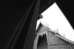 Thai architecture temple. Thai temple in chiangmai, Thailand. Black&White stock images