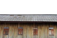 Thai architecture. Thai old wooden house. Thai old wooden house. Thai old wooden house royalty free stock image