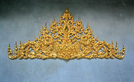 Thai Architecture Wall Royalty Free Stock Images