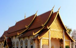 Thai architecture of Wat Chedi Luang in Chiang Mai, Thailand Stock Photo