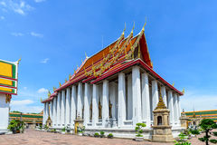 Thai architecture in Wat Pho at Bangkok, Thailand Royalty Free Stock Images