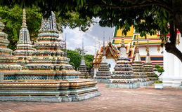 Thai architecture in Wat Pho public temple in Bangkok, Thailand. Thai architecture in Wat Pho public temple on sunset, Bangkok, Thailand. Wat Pho known also as Royalty Free Stock Photography
