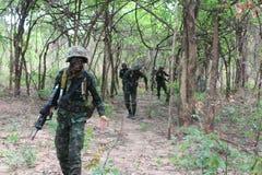 Thai armé Arkivbild
