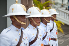 Thai Armed Guards Stock Photo