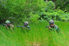 Thai army field training Royalty Free Stock Photo