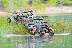 Thai army field training Royalty Free Stock Image