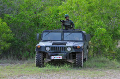 Thai army field training Stock Photos