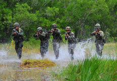 Thai army field training Stock Images