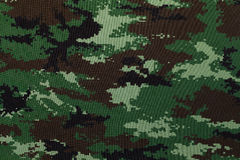 Thai army green woodland digital camouflage fabric texture Stock Images