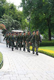 Thai army parade in Bang-Pra In palace Stock Images