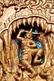 Thai Art. In Thai Temple Stock Photography