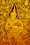 Thai Art. On the door Royalty Free Stock Images
