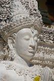 Thai  art. Thai art stucco on the entrance door, Lamphun royalty free stock image