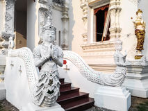 Thai Art, Angel Fusion Naka statue on staircase Royalty Free Stock Photography