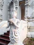 Thai Art, Angel Fusion Naka statue on staircase Stock Photos