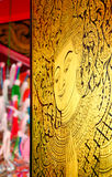 Thai art, the angel paint Royalty Free Stock Photo