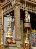 Thai art angle in pavilion Stock Photos