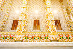 Thai art architecture detail main ordination hall Stock Photos