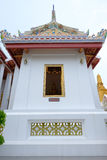 Thai art architecture detail small ordination hall in in Wat Bovoranives, Bangkok. Royalty Free Stock Image