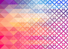 Thai Art Background pattern vectorRetro pattern of geometric shapes. Colorful mosaic banner Stock Photography