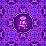 Thai Art Background. Seamless pattern Royalty Free Stock Photo