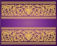 Thai Art Background Thai art pattern vector Stock Images