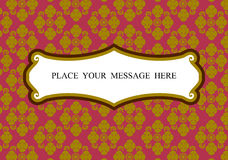 Thai art background vector Royalty Free Stock Images