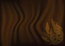 Thai art for Brown cloth background Stock Photo