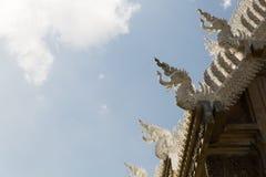 Thai art Buddha roof triangle Royalty Free Stock Photos