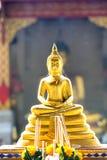 Thai art Buddha statue in Thai temple church Stock Image