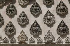 Thai art Buddha wall paint Royalty Free Stock Photo