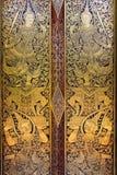 Thai art. On buddhist church Royalty Free Stock Photo