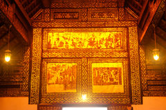 Thai art at ceiling of church. Royalty Free Stock Images