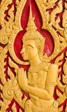 Thai art church door Royalty Free Stock Photography