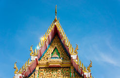 Thai art, church's gable Royalty Free Stock Image