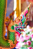 Thai art colorful of head king of nagas Stock Image