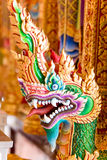 Thai art colorful of head king of nagas Stock Photos