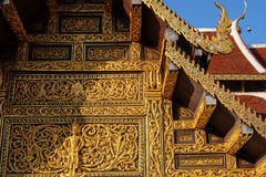 Thai art design on temple wall. In Chiangmai province, Thailand Royalty Free Stock Photos