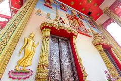 Thai art of the door Stock Photos