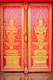 Thai art door painting Royalty Free Stock Images