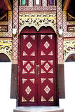 Thai art door Royalty Free Stock Image